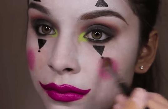 Maquillaje de payaso para mujer