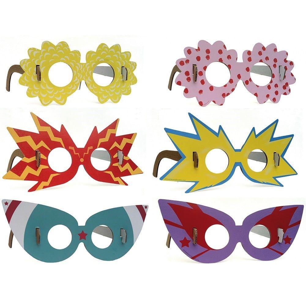 Otras gafas de payaso las hacemos con cartón