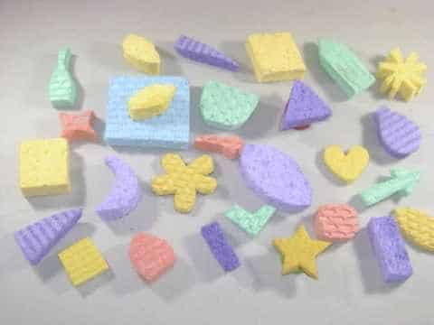 Sellos caseros con esponja