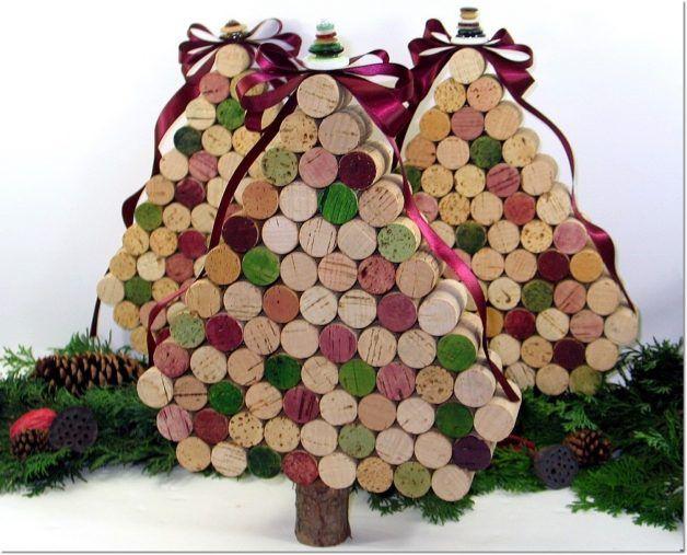 manualidades navideñas con corchos